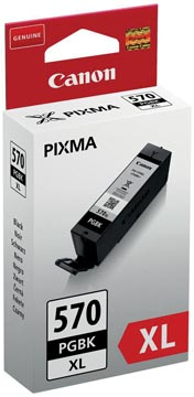 Canon inktcartridge PGI-570 GBK XL, 500 pagina's, 3.900 foto's, OEM 0318C001, zwart