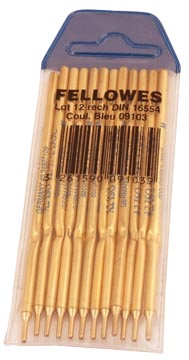Fellowes vulling Stylofoor, blauw, pak 12 stuks