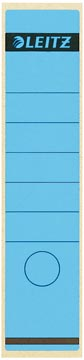 Leitz rugetiketten ft 6,1 x 28,5 cm, blauw