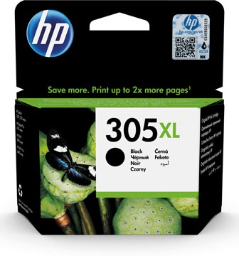 HP inktcartridge 305XL, 240 pagina's, OEM 3YM62AE, zwart