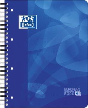 Oxford School Projectbook spiraalschrift, ft A4+, 4-gaats perforatie, gelijnd, blauw