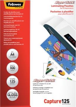 Fellowes lamineerhoes Capture125 Super Quick ft A4, 250 micron (2 x 125 micron), pak van 100 stuks