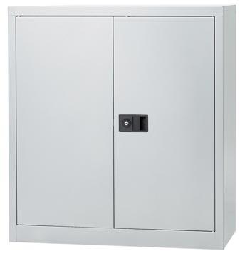 Bisley draaideurkast, ft 100 x 91,4 x 40 cm (h x b x d), 1 legbord, zilverkleurig