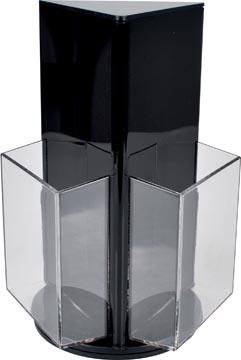 Deflecto roterende folderhouder met 3 compartimenten, formaat 1/3 A4