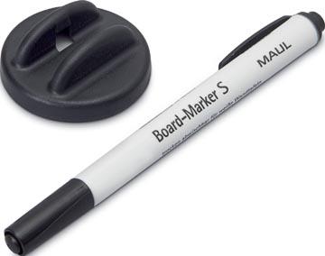 Maul bordwisser met whiteboardmarker S zwart, magnetisch
