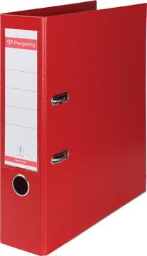 Pergamy ordner, voor ft A4, volledig uit PP, rug van 8 cm, rood