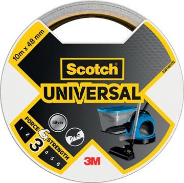 Scotch ducttape Universal, ft 48 mm x 10 m, zilver