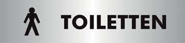 Stewart Superior zelfklevend pictogram heren toiletten
