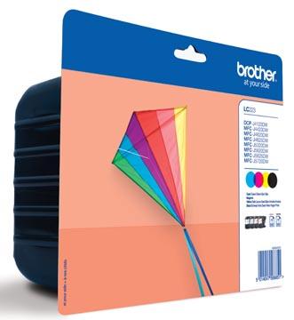 Brother inktcartridge, 600 pagina's, OEM LC-223VP, 4 kleuren